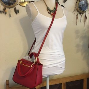 Adrienne Vittadini red crossbody Tote bag NWT